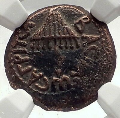 Herod AGRIPPA I JERUSALEM Biblical Claudius Time Ancient Greek Coin NGC i70954