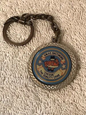 Vintage GM GMAD General Motors Baltimore Keychain Chessie The Quality Crab PPG