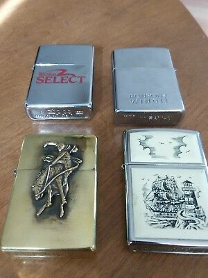 VINTAGE ZIPPO and Ronson LIGHTER LOT Set of 4