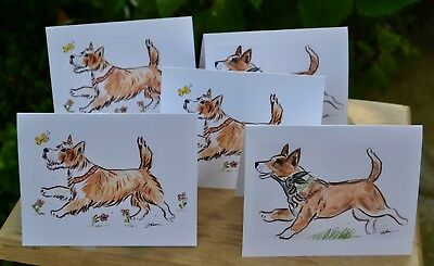 Portuguese Podengo Pequeno .Post cards made from my watercolors. Set of 5
