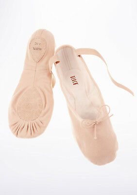 NEW Bloch Ballet Slippers Pink Canvas Split Leather Sole Shoes S0277L Pump 8 C