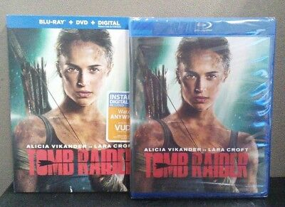Tomb Raider    (Blu-Ray + DVD + Digital)    w/Slipcover     BRAND NEW