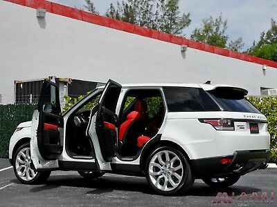 2016 Land Rover Range Rover Sport Sport Supercharged Dynamic White/Red 2016 Range Rover Sport Supercharged Dynamic Best Color Combo Loaded!