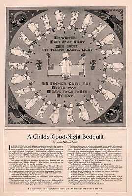 1905 B Ad  Jessie Willcox Smith Childs Bed Quilt Pattern Large Format