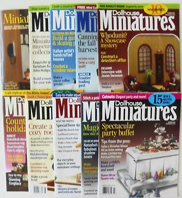 Lot Of 10 Dollhouse Miniatures Magazines With Mini Cut Outs