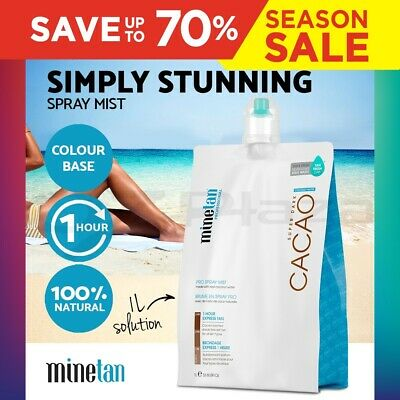 MineTan Pro Solution Coconut 14% DHA 1 Litre Spray Tan Tanning Mist Sunless