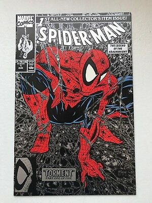 Spider-man #1 Torment Silver Marvel Comics Todd McFarlane Collectors Issue NM