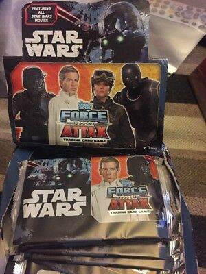 Topps Star Wars Force Attax Universe  Full Box 36 Sealed Packets &starter Pack