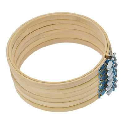 1pc/6pcs 6 inch Round Wooden bamboo Embroidery Hoops Bulk Adjustable Wholesale