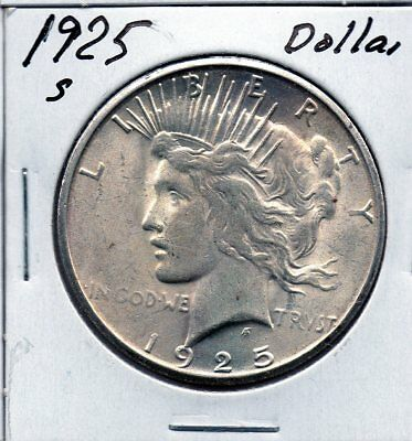 Very nice Slider Unc  1925 S  Peace Dollar. Free shipping US
