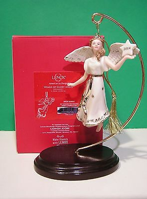 LENOX 2014 annual ANGEL Ornament WINGS OF GLORY NEW in BOX