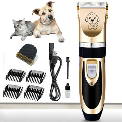 USB Rechargeable Dog Grooming Pet Cat Animal Hair Trimmer Clipper Shaver Haircut
