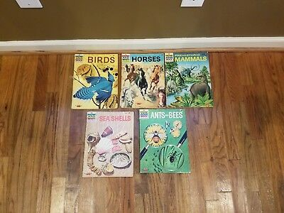 Lot of 5 How and Why Books Birds Horses Prehistoric Animals Ants & Bees Shells