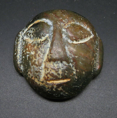 Very Rare Antique Stone Age Mask Amulet Super Quality