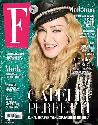 Madonna F Fashion Magazine Italy July 2018 Iconic Queen Of Pop Collectors Look