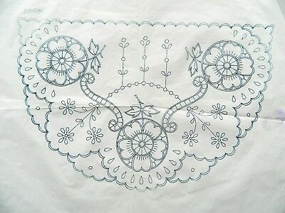 Vintage 40's Embroidery Transfer Pattern ~  Flowers ~ Cut Work Design ~ 74