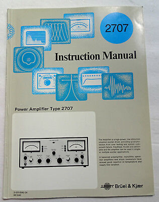 Bruel & Kjaer 2707 Instruction Manual, Used