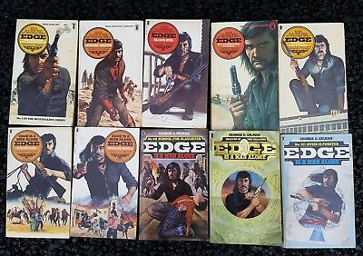 Job lot 10 Cowboy Western Paperback Books Lot 54 All George Gilman - Edge