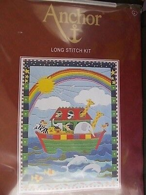 """Tapestry /Longstitch Kit """" Noah's Ark New by Anchor 14.75"""" x 11"""""""