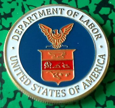 Dol Department Of Labor #1225 Colorized Art Round