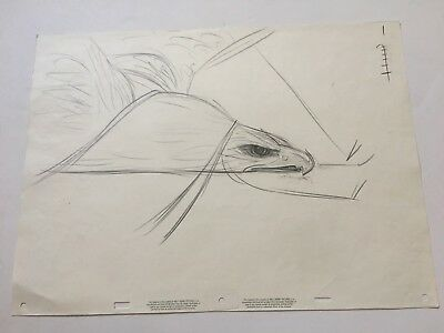 Disney Rescuers Down Under Original Production Animation Drawing 1990