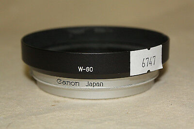 Genuine Canon W-60 Metal Clamp On Lens Hood 6747