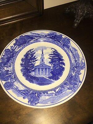 Wedgwood Middlebury Vermont Vt College Mead Memorial Chapel Plate