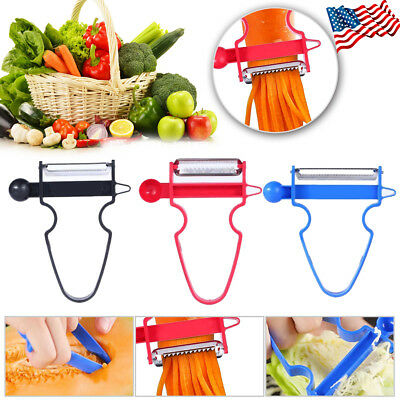 2018 Magic 3pcs Peeler Set Trio Peeler Slicer Shredder julienne Fruit Cutter KS