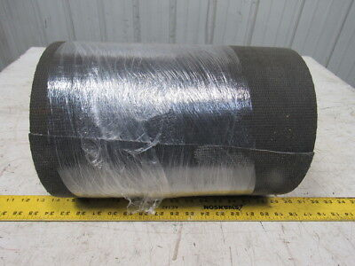 "2-Ply Black PVC Smooth Top Interwoven Fabric Conveyor Belt 38'x14"" x .135"""