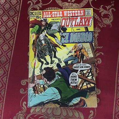 All-Star Western presents Outlaw and El Diablo #4 March 1971 Bagged DC Comic