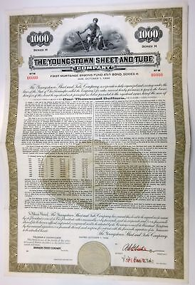 OH. Youngstown Sheet & Tube Co., 1960 $1,000 Specimen 4 1/2% Series H Bond, XF