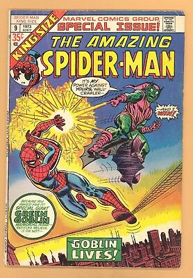 King Size Amazing Spider-Man #9 Green Goblin Fight Marvel Silver Age Vg+