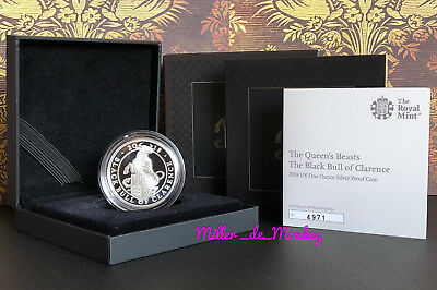 Black Bull of Clarence 2018 UK 1oz Silver Proof £2 Two Pound Coin - *1 Day Sale*