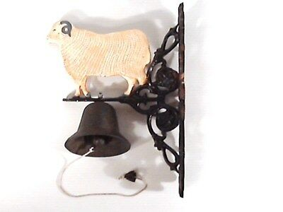 Vintage Southern Ram Sheep Wall Mount Cast Iron Dinner Bell.