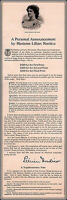 1905 B Ad Lillian Nordica 3 Prizes To American Writers Best Songs