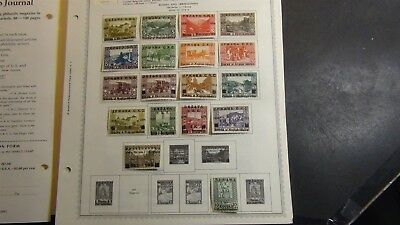 Yugoslavia stamp collection on Minkus album pages to '93 w/ 2K stamps or so