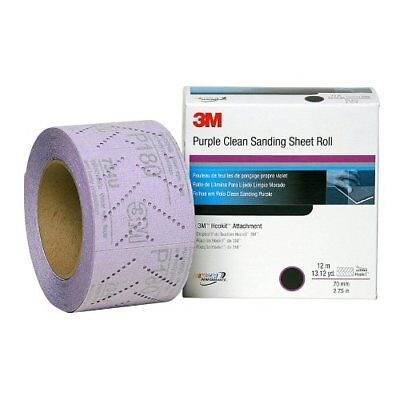 3M 30706 Hookit 334U Purple 70 mm x 12 m P280 Grit Clean Sanding Sheet Roll