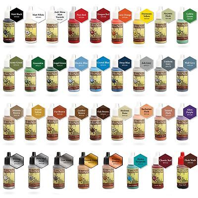 The Army Painter Acrylic Warpaints Paint - All Colours