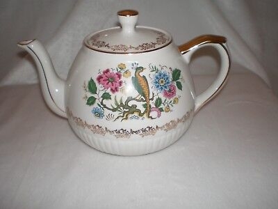Vintage Floral with Bird of Paradise Ellgreave by Wood & Sons English Ironstone