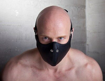 Ledermaske Maske dickes Leder Mask Leather gay muscle
