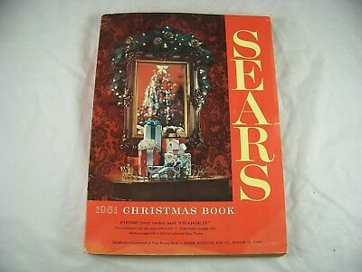 1961 Sears Christmas Book Wish Catalog Vintage Toys Vg+ Condition