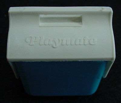 Miniature Blue PLAYMATE Cooler Candy Container Barbie Size Dollhouse FUN FOODS