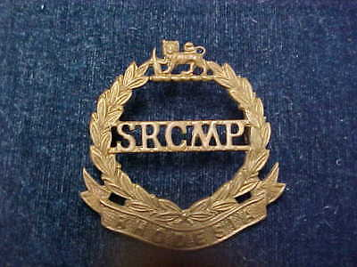 """Orig Post WW2 Cap Badge """"SRCMP"""" South Rhodesian Corps Of Military Police"""