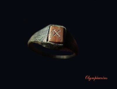 ** EXCELLENT ** Ancient ROMAN Bronze LEGIONARY ring  ** LEGIO X GEMINA **