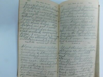 1902 Womans Hand Written Diary Deaths Winchester Indiana Catherine E Meier