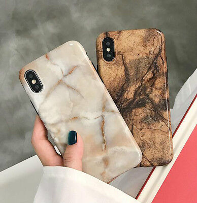 Retro Marble TPU Silicon Rubber Case Cover for iPhone X 8 7 6 6s Plus Shockproof