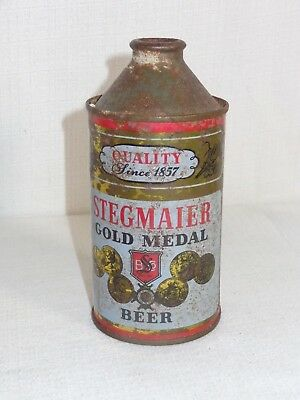 Old Stegmair Gold Medal Cone Top Beer Can