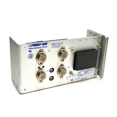 Power-One HD24-4.8-A 24VDC 4.8A Power Supply w/ 240D3 Solid State Relay