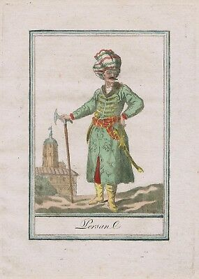 1780 - Persia Persian Turkey Iran costume engraving antique print 67634
