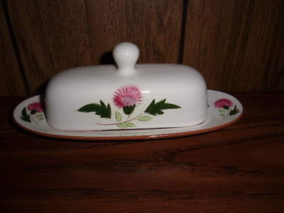 Beautiful Stangl Pottery Thistle Covered Butter Dish